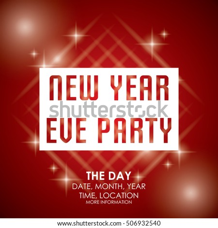 New Year Party Poster Template Vector 506932543 Shutterstock – New Year Poster Template