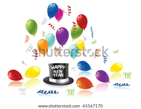 New year party. Vector - stock vector