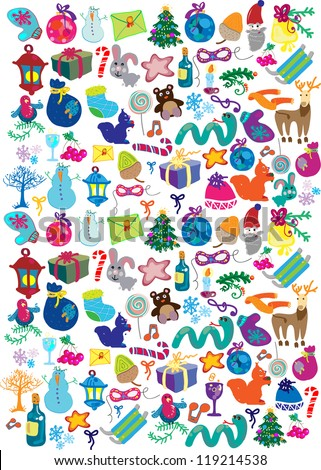 new year pattern - stock vector