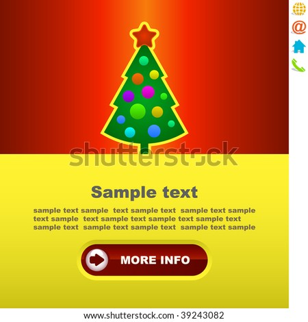 New Year's banner for advertising - stock vector