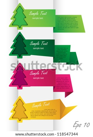 New Year's Banners - stock vector