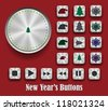 New Year's buttons - stock vector