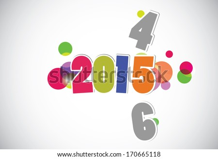 New Year's Eve greeting card - stock vector