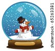 New Year's sphere with the snowman - stock vector