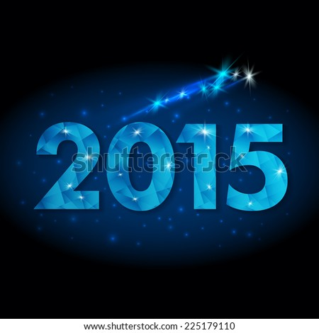 New Year 2015. Starry sky background. Eps 10 Vector