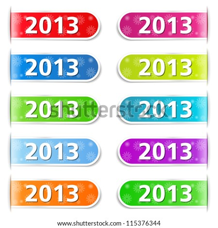 New year tabs, vector eps10 illustration - stock vector