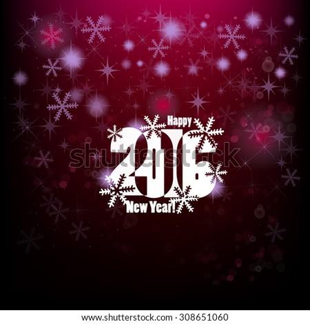 New Year 2016. Vector - stock vector