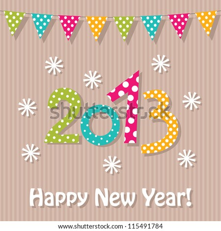New Year 2013 vector background