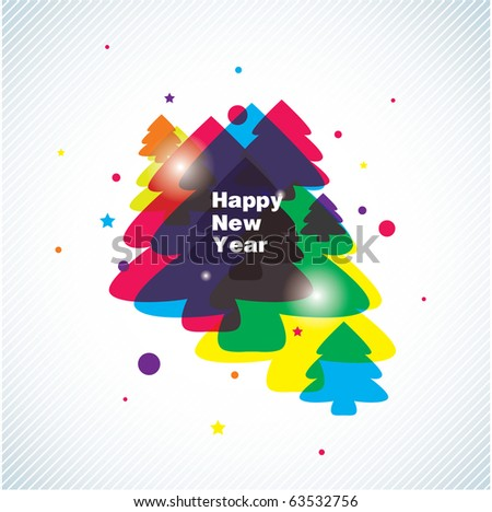 new year vector background
