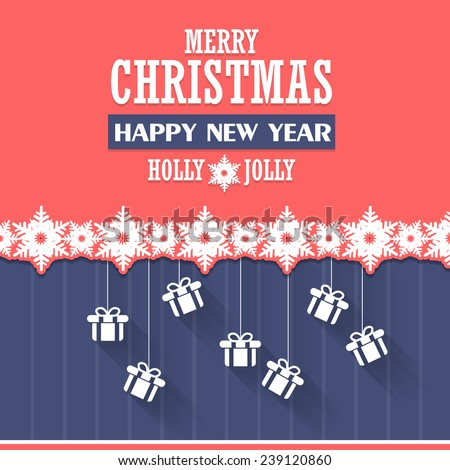 New Year Vector Design Announcement and Celebration Message Background - stock vector