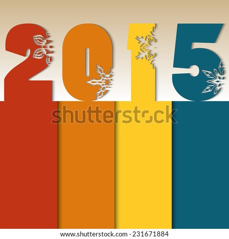 New Year 2015 Vector eps10 - stock vector