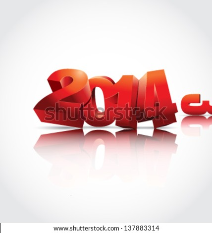 New 2014. Year vector illustration - stock vector