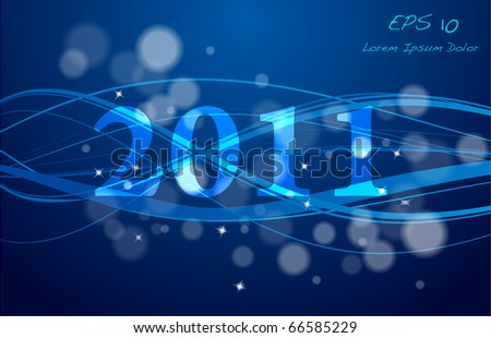 New year waves design vector EPS10 - stock vector