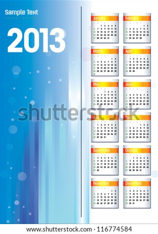 New Years 2013 - stock vector