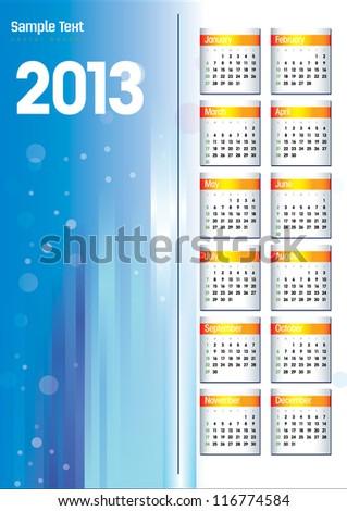 New Years 2013 - stock vector