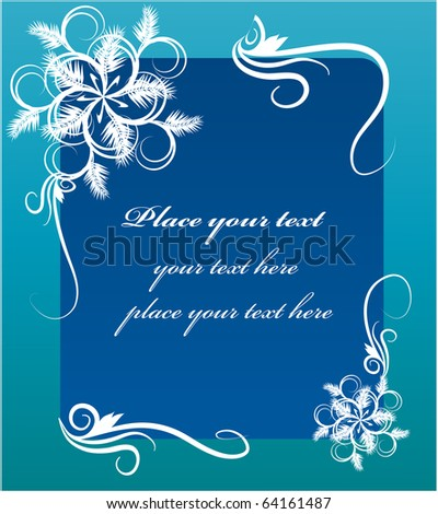 new years greeting card template design - stock vector