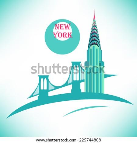 New York Chrysler Building icon - stock vector
