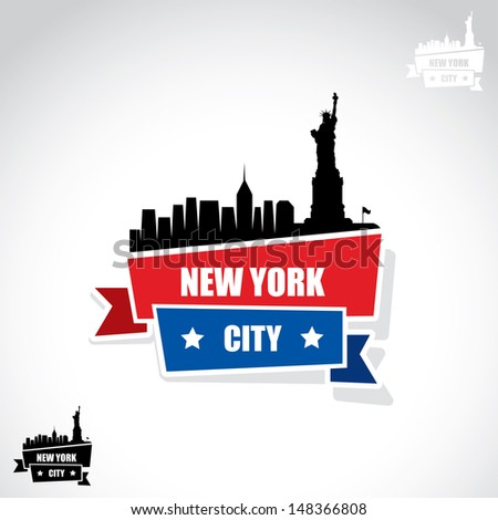 New York City banner - vector illustration - stock vector
