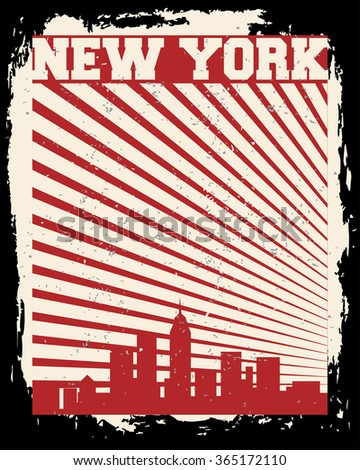 New York City concept. Logo. Label. T-shirt design. NYC. Creative poster design.
