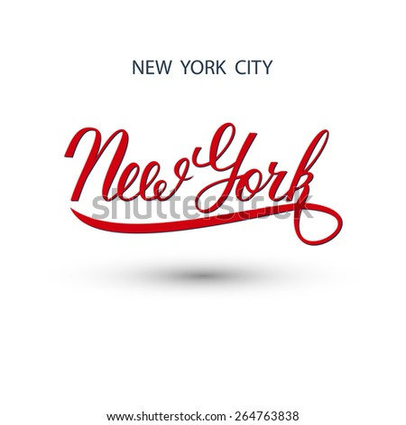 New York city handwritten logo. Vector illustration.