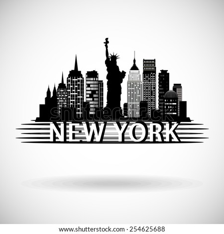 New York City skyline - stock vector