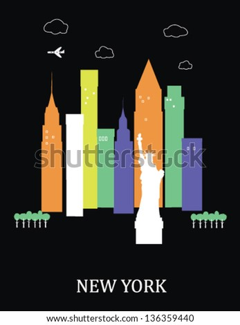 New York city. USA.Vector illustration. - stock vector