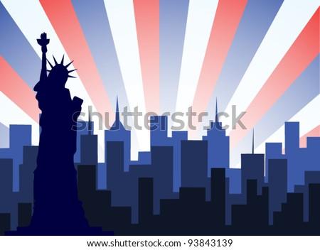 New York City Vector - stock vector