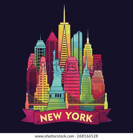 New York city. Vector illustration - stock vector