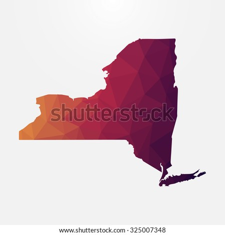 New York in geometric polygonal style.Abstract tessellation,modern design background. Vector illustration EPS10 - stock vector
