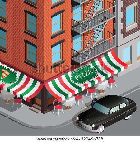 New york mafia clash - stock vector