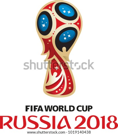 New York, NY / USA - February 7 2018: FIFA World Cup Russia 2018 Vector illustration.