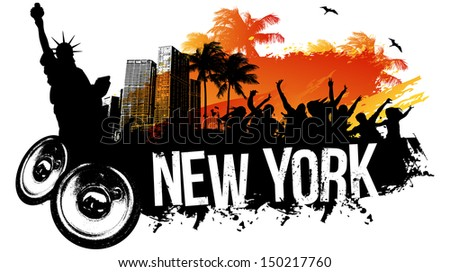 New York Party - stock vector