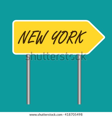 New York road sign - stock vector