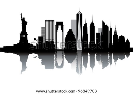New York Skyline Vector Stock 63133300 Shutterstock