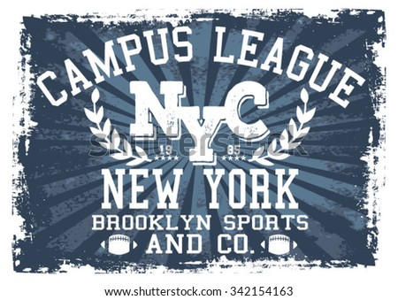 New York Sports vector print and varsity. For t-shirt or other uses in vector.
