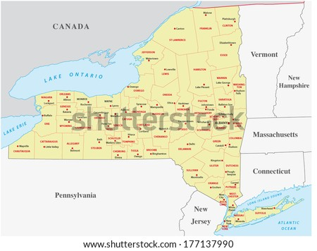 New York State Map Stock Images RoyaltyFree Images Vectors - State map of new york