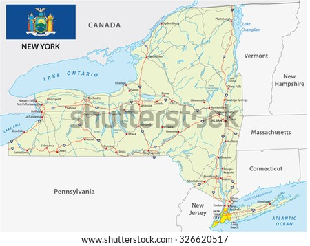 New York State Stock Images RoyaltyFree Images Vectors - Road map new york state