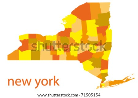 New York Road Map Stock Photos Images Amp Pictures