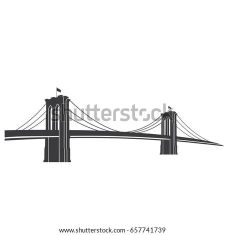 new york symbol brooklyn bridge vector stock vector 2018 657741739 rh shutterstock com brooklyn bridge vector art brooklyn bridge vector free