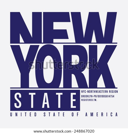 New York typography, t-shirt graphics, vectors,  - stock vector