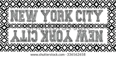 new york typography, t-shirt graphics, vectors