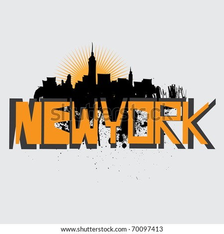 new york vector - stock vector