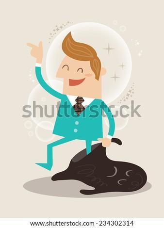 New you self improvement concept illustration - stock vector