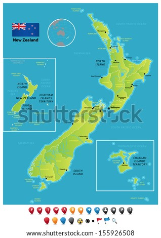 New Zealand - stock vector