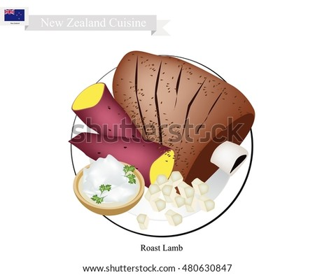 Roast lamb stock photos royalty free images vectors for Authentic new zealand cuisine