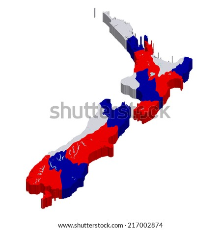 New Zealand map countries