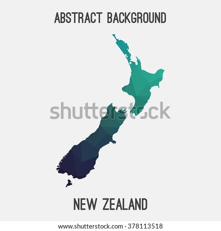 New Zealand map in geometric polygonal style.Abstract tessellation,modern design background. Vector illustration EPS8