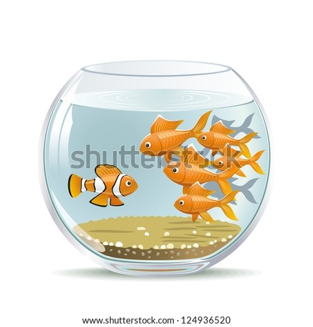 Newcomer. Illustration freshman in the existing collective. - stock vector