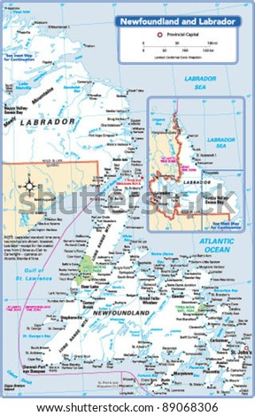 Newfoundland Map Stock Images RoyaltyFree Images Vectors - Newfoundland map