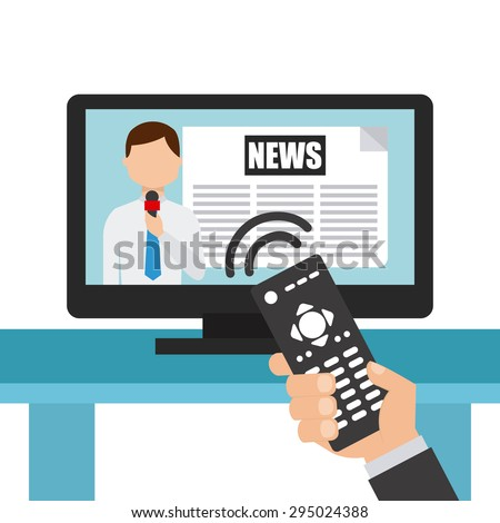 news concept design, vector illustration eps10 graphic  - stock vector